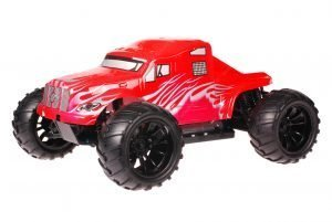 HSP 1zu10 Brushed Brontosaurus RC Monster Truck American Truck Red Metallic