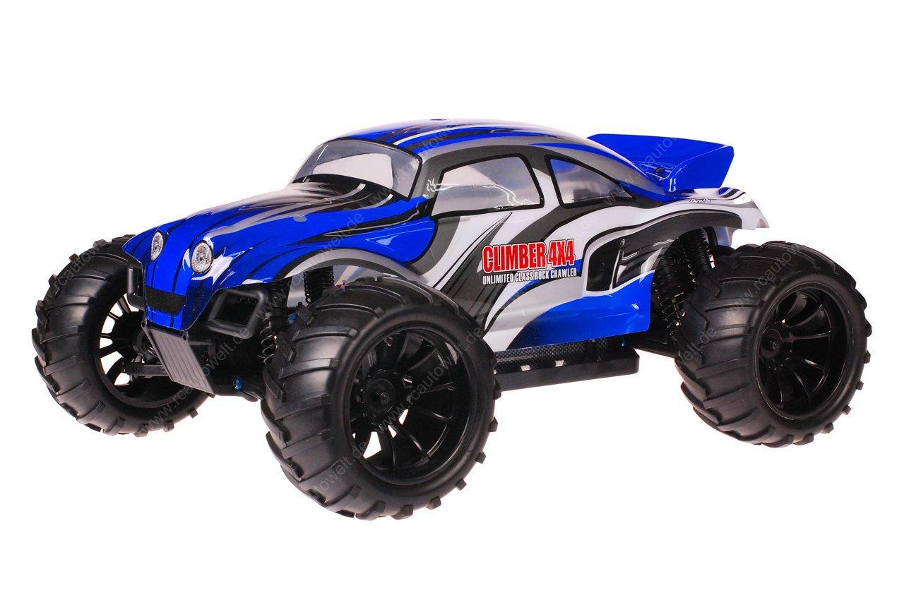 HSP 1zu10 Brushed Brontosaurus RC Monster Truck Baja Beetle Blue