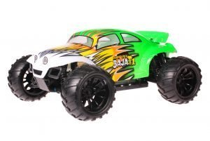 HSP 1zu10 Brushed Brontosaurus RC Monster Truck Baja Beetle Green Flames