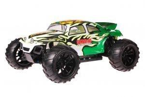 HSP 1zu10 Brushed Brontosaurus RC Monster Truck Baja Beetle Green White