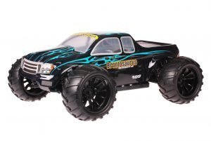 HSP 1zu10 Brushed Brontosaurus RC Monster Truck Dracul Blue
