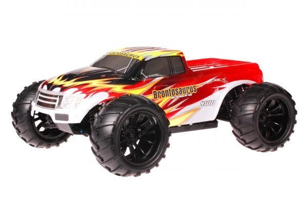 HSP 1zu10 Brushed Brontosaurus RC Monster Truck Explosion Red