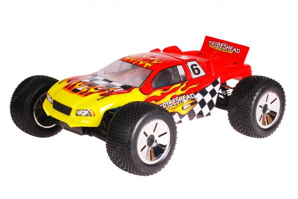 HSP 1zu10 Brushed Eamba RC Truggy Tribeshead Red Flames