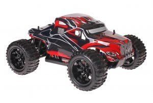 Himoto 1zu10 Brushed EMXT-1 RC Monster Truck American Truck Red