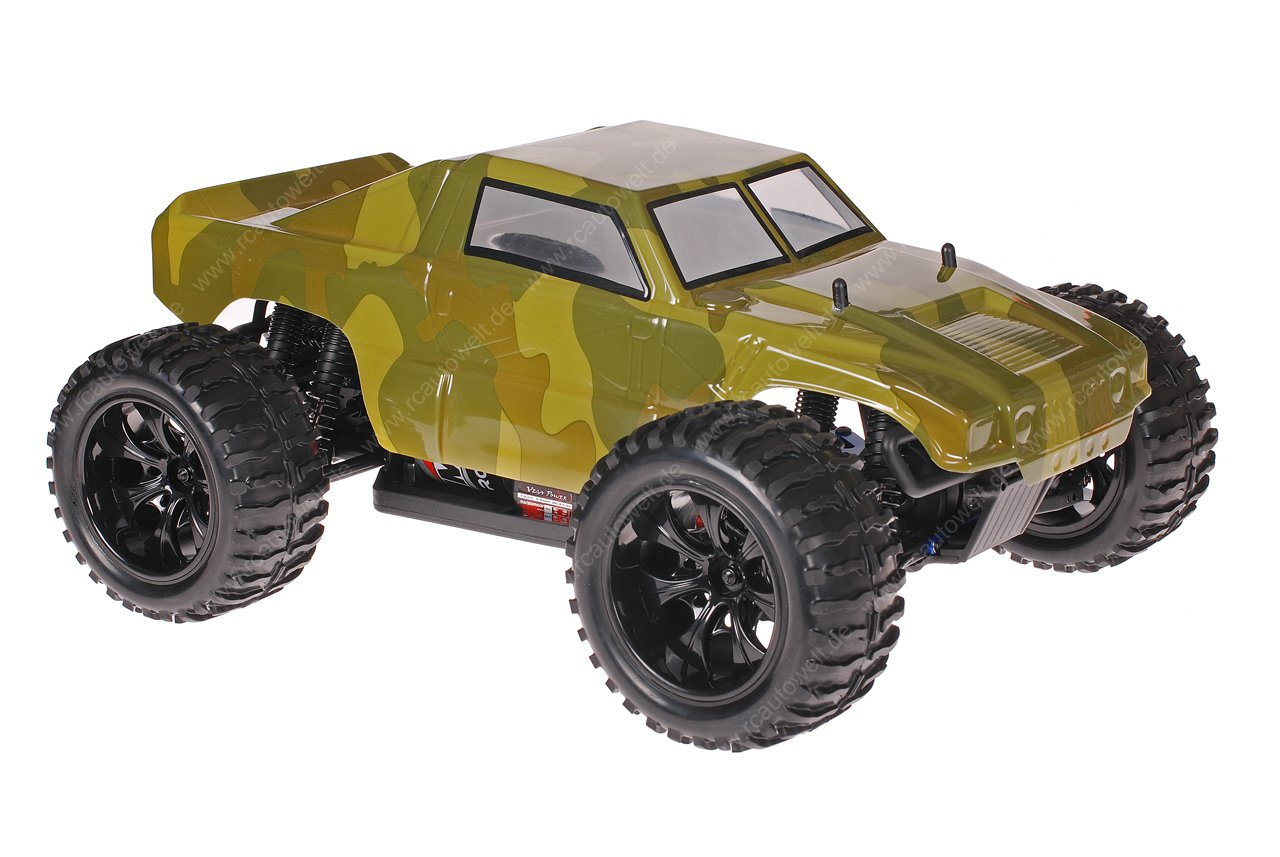 Himoto 1zu10 Brushed EMXT-1 RC Monster Truck Army Green