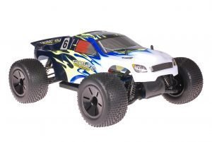 Himoto 1zu10 Brushed Eamba-XR1 RC Truggy Tribeshead Black Metallic