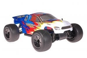 Himoto 1zu10 Brushed Eamba-XR1 RC Truggy Tribeshead Blue Metallic