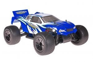 Himoto 1zu10 Brushed Eamba-XR1 RC Truggy Tribeshead Blue White