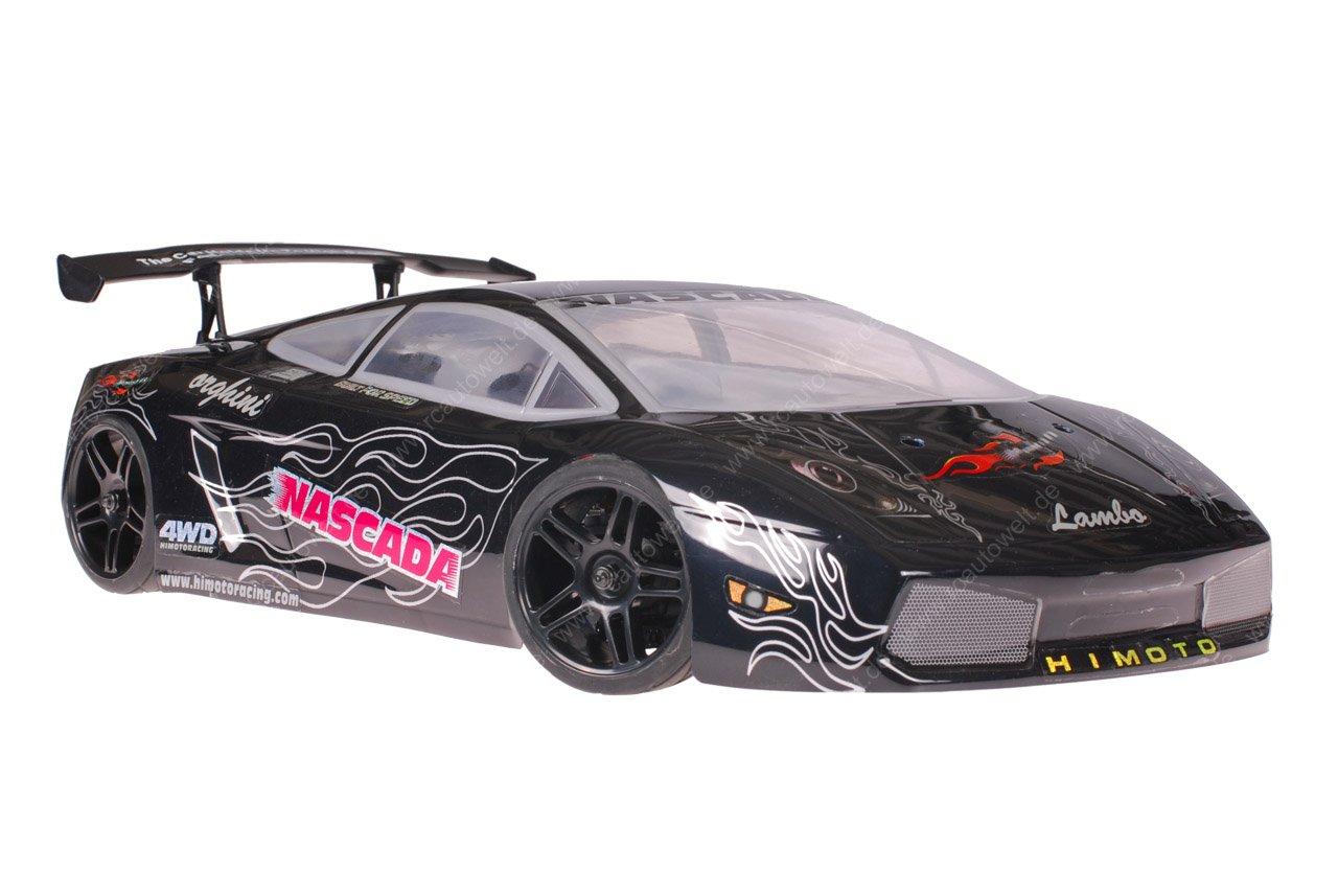 Himoto 1zu10 Brushed Nascada Onroad RC Auto Lamborghini Black
