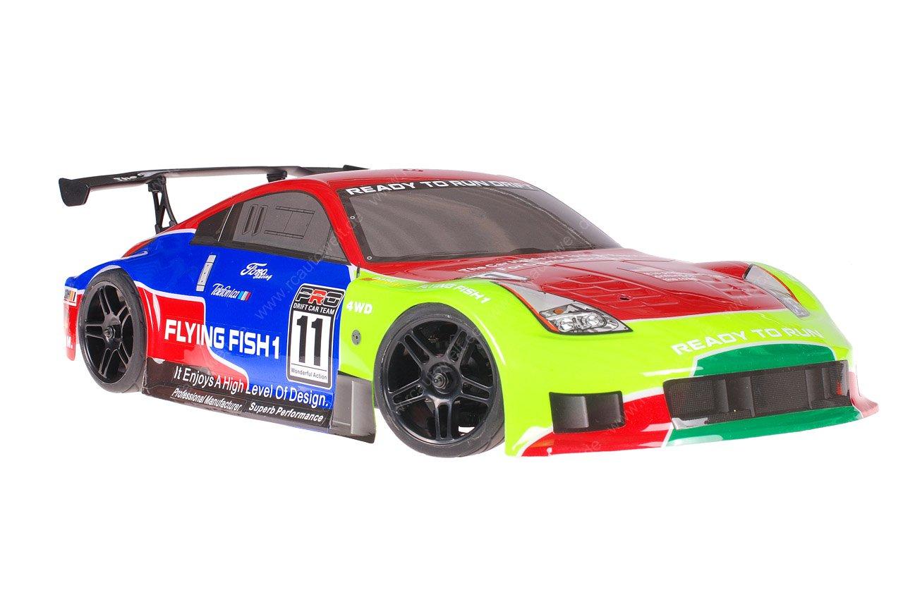 Himoto 1zu10 Brushed Nascada Onroad RC Auto Porsche 911 Carrera Green Venom 1