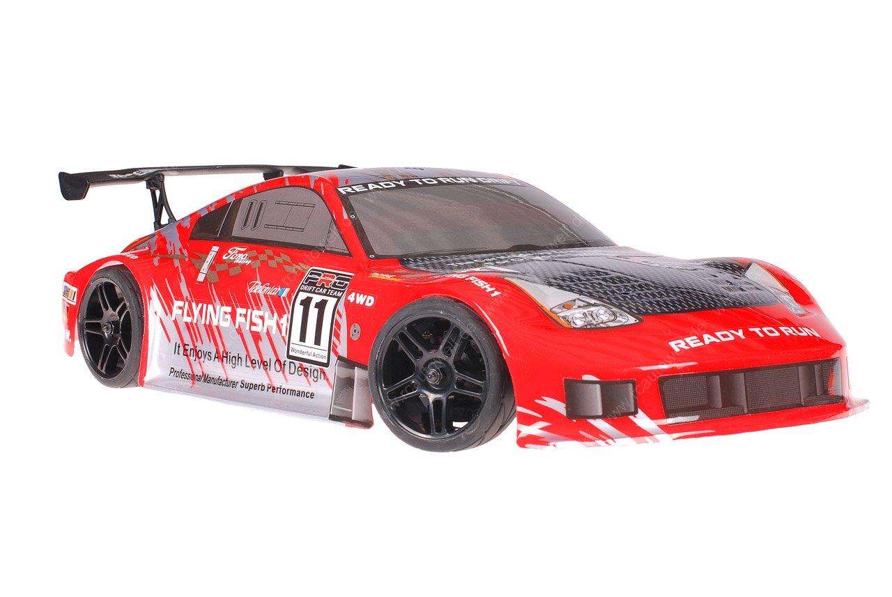 Himoto 1zu10 Brushed Nascada Onroad RC Auto Porsche 911 Carrera Red Carbon 1