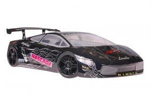Himoto 1zu10 Brushless Nascada Onroad RC Auto Lamborghini Black