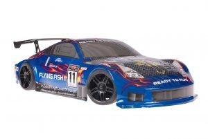 Himoto 1zu10 Brushless Nascada Onroad RC Auto Porsche 911 Carrera Blue Carbon 1