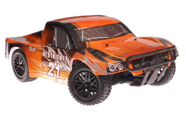 Himoto 1zu10 RC Short Course Truck Black Orange