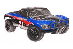 Himoto 1zu10 RC Short Course Truck Blue Carbon