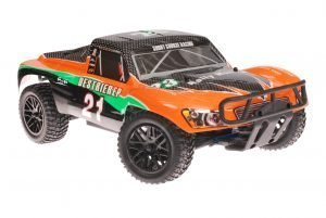 Himoto 1zu10 RC Short Course Truck Orange Carbon